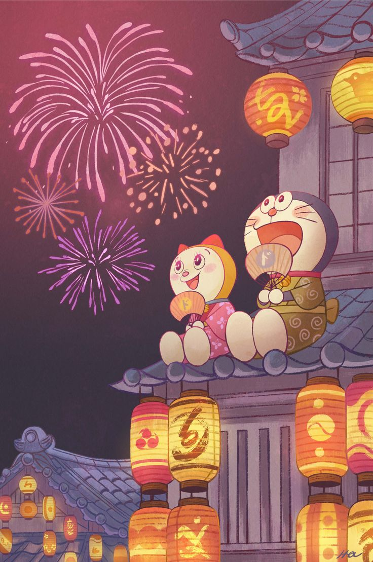 Hi! I participated Doraemon Show at Q pop Gallery!   It was super fun to draw cute doraemon and dorami enjoying matsuri!!  There are so many awesome artworks for the show so please check out   the show if you are in LA area *_*