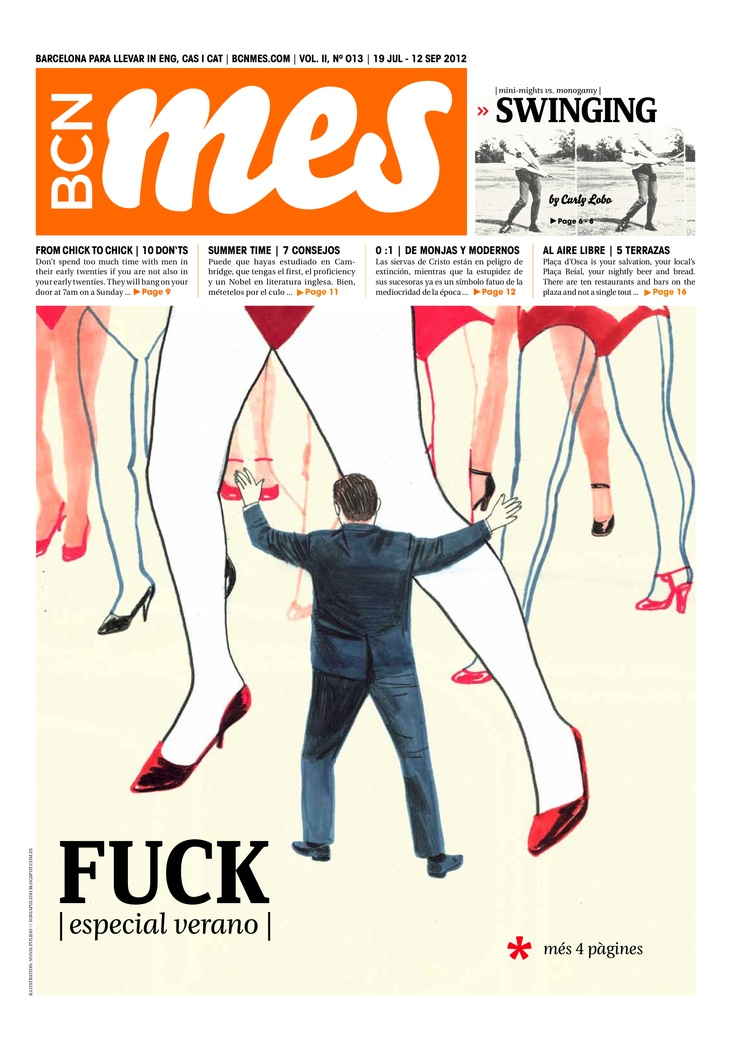 cover/portada de BCN MES sept 2012 (barcelona's alternative cultural newspaper)