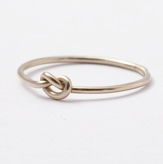 14K White Gold Knot Ring Love Forget Me Tie by BlueRidgeNotions, $82.00