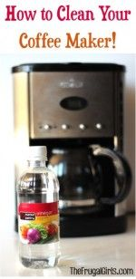 How to Clean Your Coffee Maker plus more tips at TheFrugalGirls.com