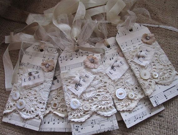 Vintage+Shabby+Gorgeous+Bridesmaid+Tags+Set+of+by+AnneMariePaperie,+$30.00