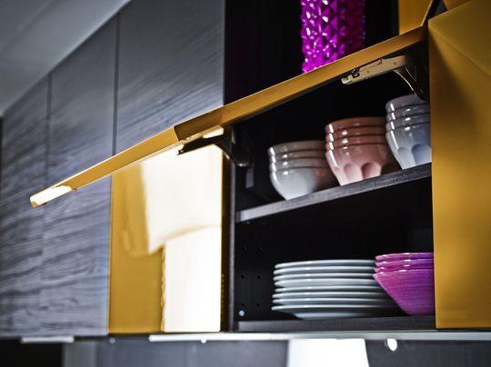 Ikea Cuisine Faktum Brun Noir  1000+ ideas about Facade Cuisine Ikea