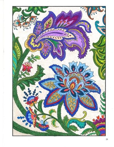From our Paisley Designs coloring book #coloringbooks Dover Coloring Books: http://store.doverpublications.com/by-subject-coloring-books.html