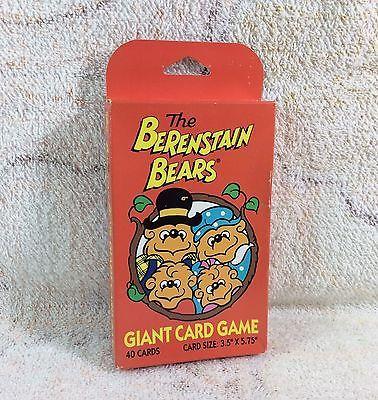 Berenstain Bears Giant Card Game Sealed Unused 1991 Proof Of Mandela Effect