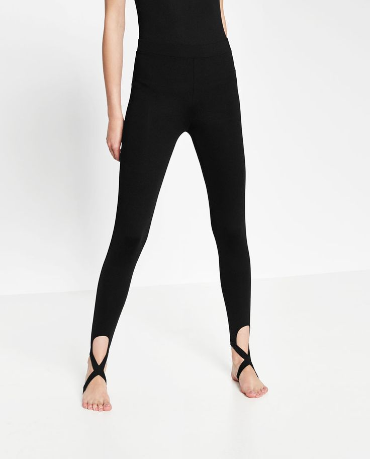 BALLET LEGGINGS WITH CROSSOVER ANKLE STRAP-View all-GYMWEAR-WOMAN | ZARA United States