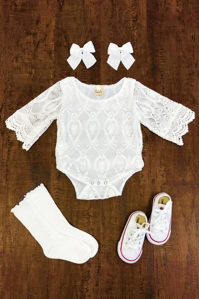 9e9c9198c Sweet White Lace Onesie | Baby stuff | Baby, Onesies, Cute baby clothes