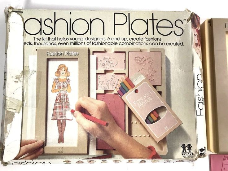 VINTAGE 1978 TOMY FASHION PLATES IN ORIGINAL BOX Complete collectible toys #TOMY #vintage #toys #vintagetoys $54.99