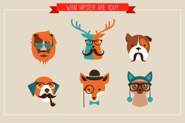 22 Hipster Animals by Marina Zlochin, via Behance