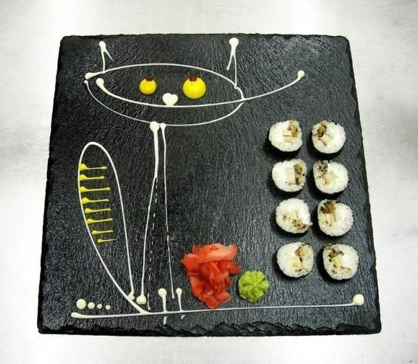 Hand Painted Sushi Plates,  OMG!
