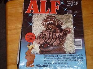 ALF Alien Latch Hook Rug Craft Kit SEALED TV Television 1987 Millcraft Vintage | eBay
