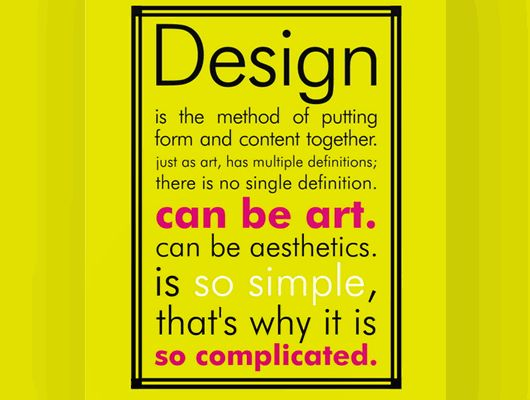 Line Art Definition Graphic Design : Quot design is the method of putting form and content together