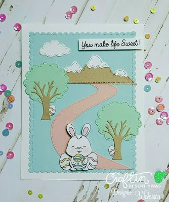 Craftin Desert Divas Blog: You Make Life Sweet  #eastercards #bunnystamps #bunnycard #easterbunny