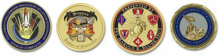 Some of the latest coin designs out of the Challenge Coins Limited graphics department.