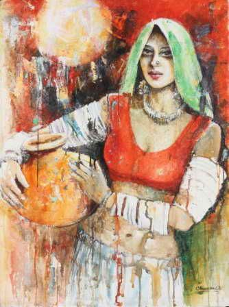 Painting of Moazzam Ali artist from moazzamali.com