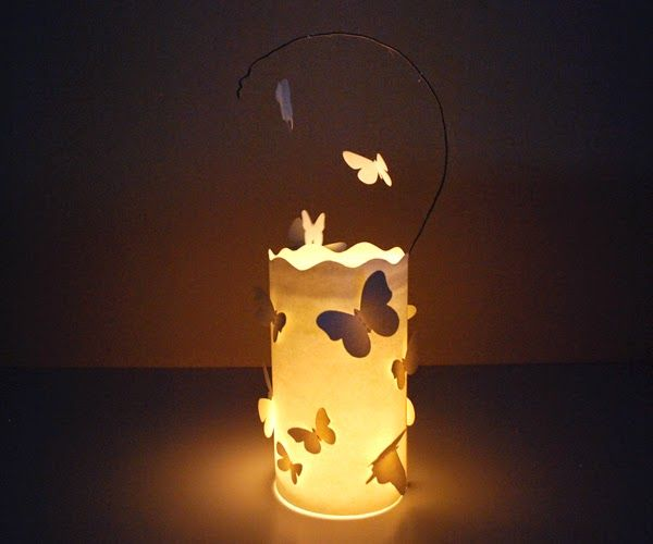Incartesimi: Lanterna con farfalle di carta: tutorial per le Frufrù