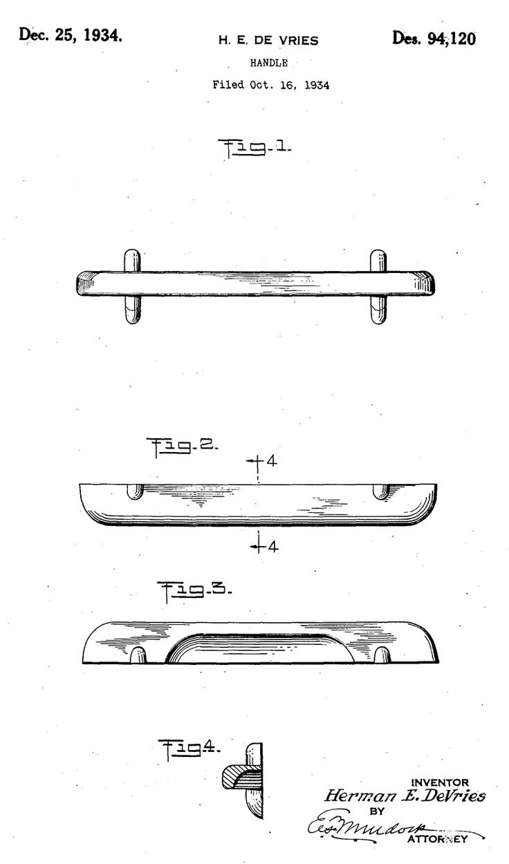 Herman E. De Vries, Patent For U0027a New, Original, And Ornamental