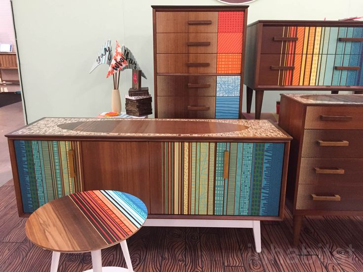 """If you never thought you'd want to buy second-hand furniture, you'll likely change your mind once you see Zoe Murphy's stunning upcycled pieces. The British designer breathes new life into salvaged midcentury modern furniture with bold and colorful designs inspired by her seaside hometown Margate, Kent. The whimsical and '50s-inspired retro prints promotes Murphy's idea of """"loving what belongs to you."""""""