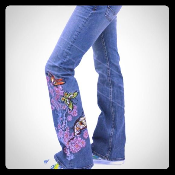 73% off Vans Denim - VANS Kim Saigh Ltd Edition Embroidered Jeans ...