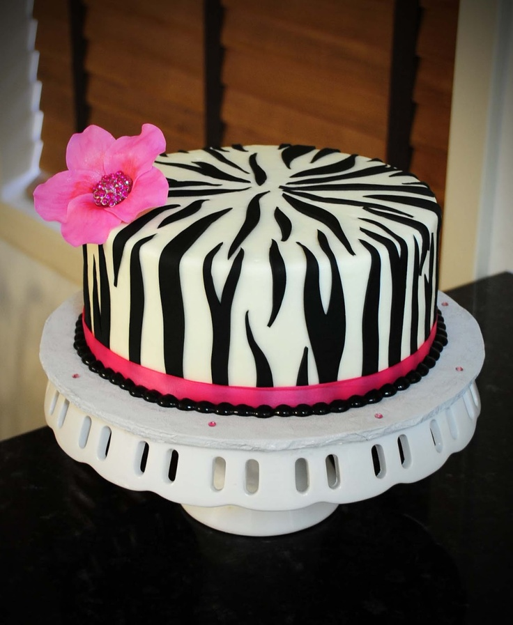... Cakery: Sarah's Birthday Cake-Zebra And Hot Pink With A Bit O