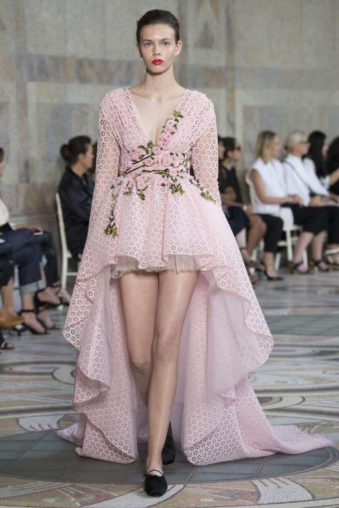 Collezione Giambattista Valli Couture Autunno-Inverno 2017-2018 - Giambattista Valli abito rosa