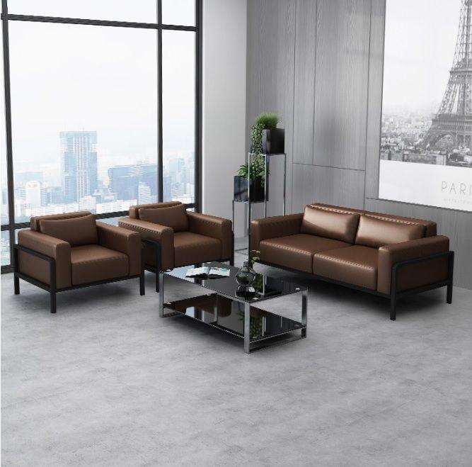 Office Waiting Room Sofa Set Lobby Low Back Sofa With Cushion
