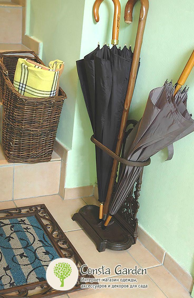 Подставка для зонтов Esschert Design.Изящная чугунная подставка для зонтов - очень практичный и функциональный элемент интерьера для загородного дома или дачи.