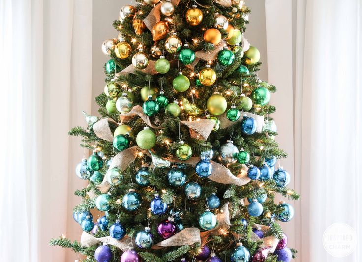 A Colorful Christmas Tree <br /> Treetopia Hump Day Giveaway