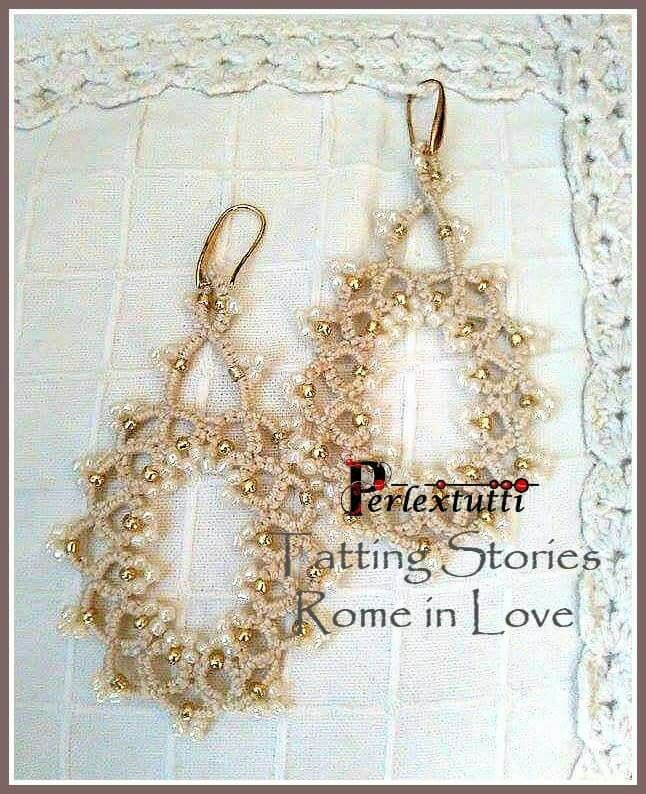 Handmade Tatting chandelier Earrings with bohemian pearls elements / Unique Jewel / Gift / perfect for Christmas Gift for Her by Perlextutti on Etsy