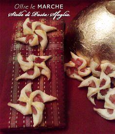 Stelle di pasta sfoglia con prosciutto, ricetta