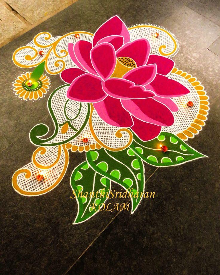 #kolam#lotus#pink
