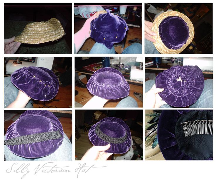 Purple Velvet Victorian Hat by jeriquan.deviantart.com on @DeviantArt