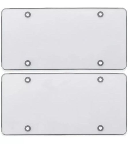 US-Deals Cars 2x Clear Flat License Plate Cover Shield Tinted Plastic Tag Protector: $7.40 End Date: Thursday Mar-29-2018…%#USDeals%