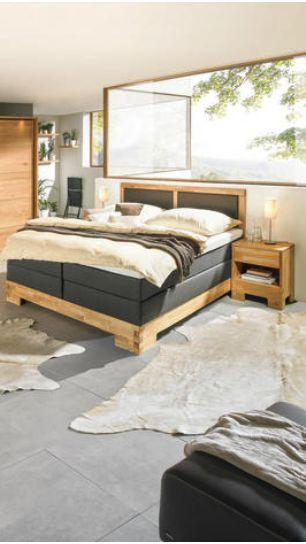 Boxspringbett 180x200 Schwarz und Holz | Bett in 2019