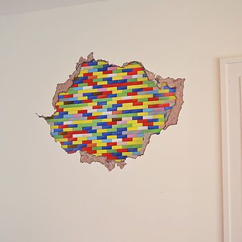 Make your wall look as if it is made of 'Lego' building bricks with this fantastic wall sticker!