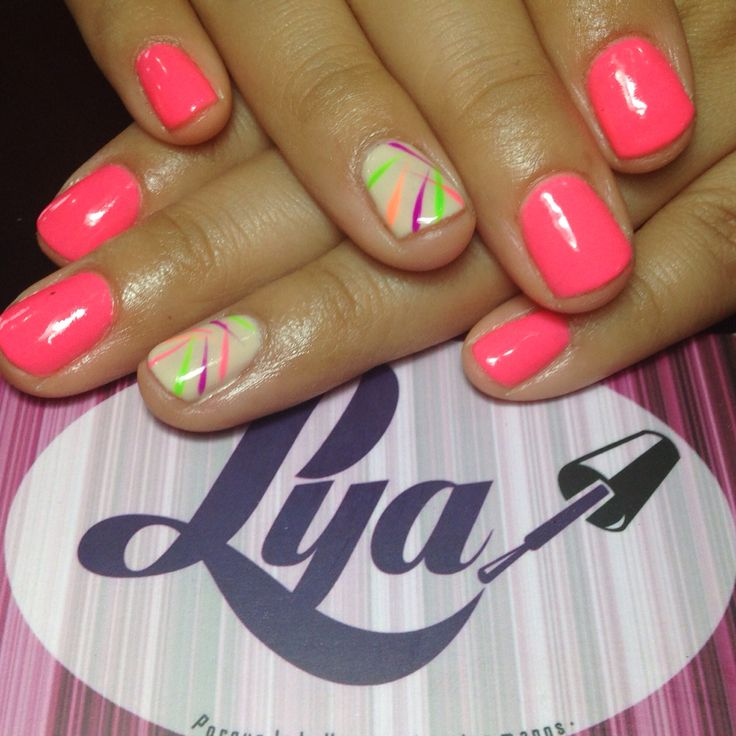 U as de gelish de colores neon for Colores de pintura de moda