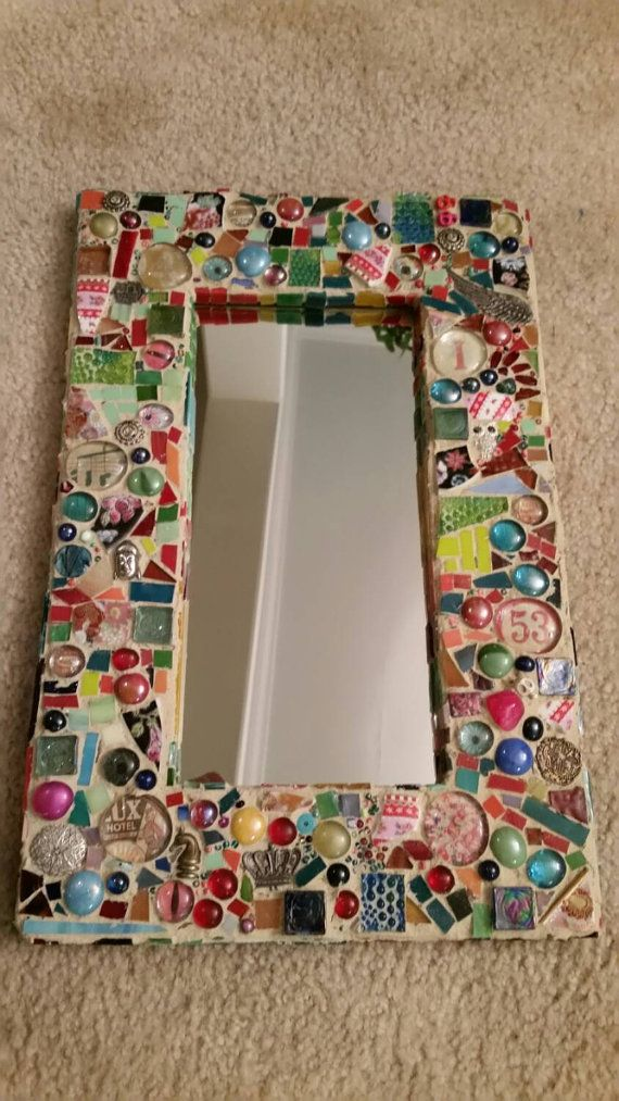 Mosaic mirror 2 by Thewoodenwolf on Etsy
