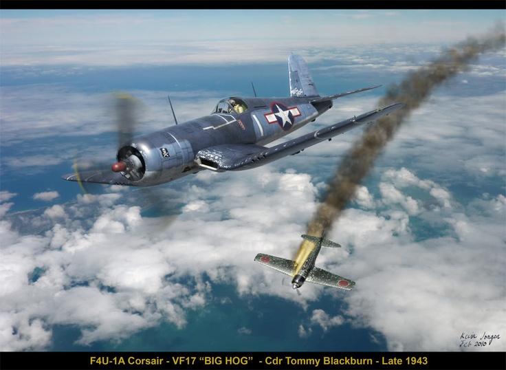 """F4U-1A Corsair """"Big Hog"""" -"""