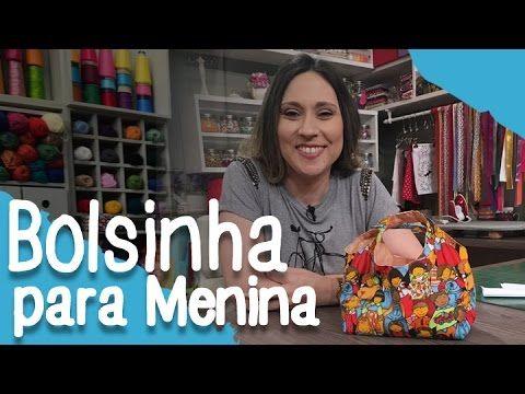 Como fazer uma bolsinha para menina - 26/10/16 - YouTube