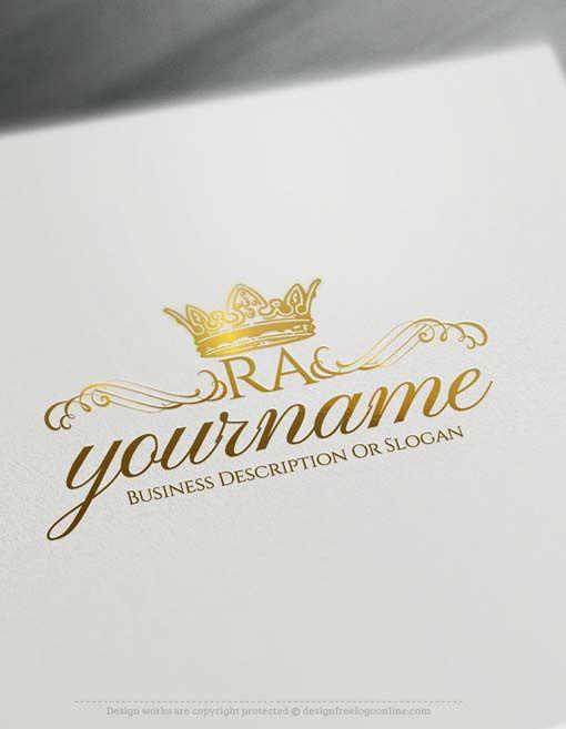 Line Art Logo Maker : Best crown logo ideas only on pinterest