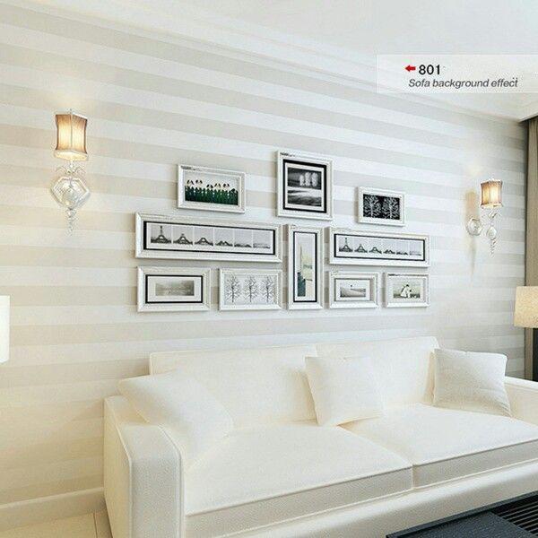 Pintando las paredes con l neas horizontales ideas de - Quitar gotele de la pared ...