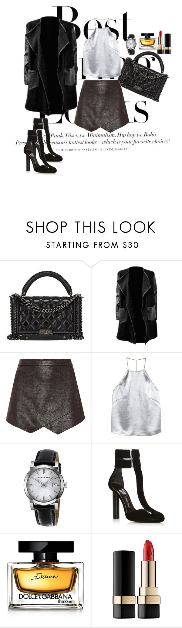 """Best spring look"" by popescu-io on Polyvore featuring H&M, Chanel, Mason by Michelle Mason, Burberry and Dolce&Gabbana"