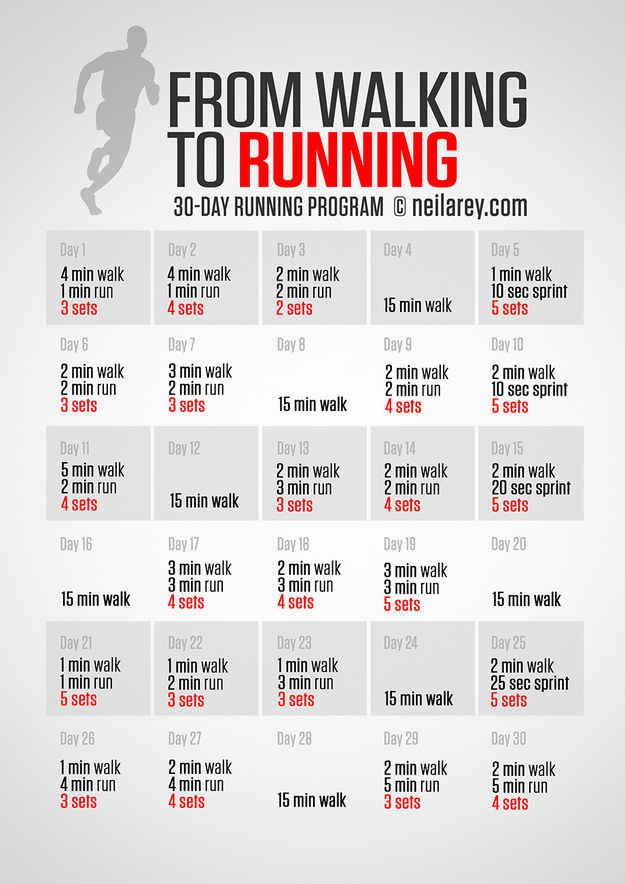 For becoming a runner in 30 days.