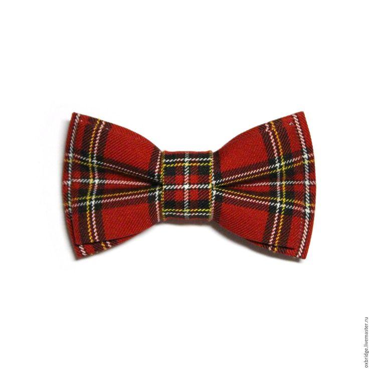 Купить Галстук бабочка красного цвета в клетку / Бабочка галстук в клетку - галстук бабочка