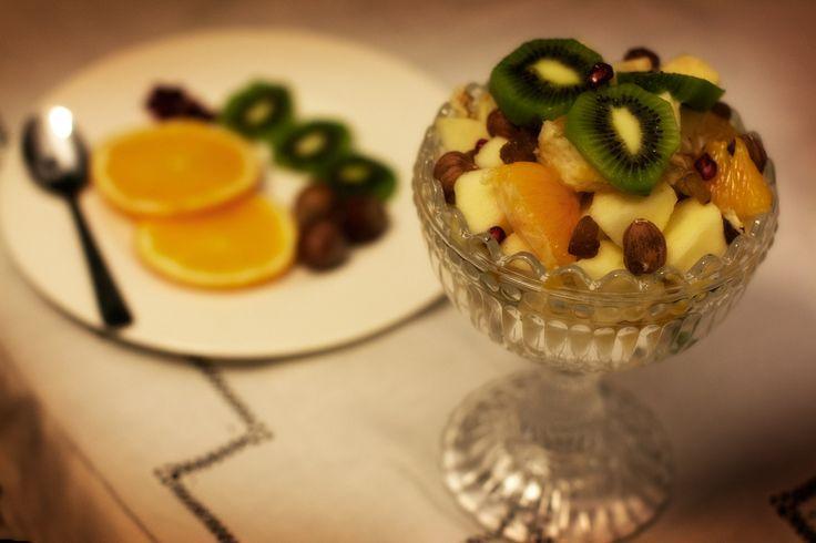 Macedonia+invernale+di+frutta+fresca+e+secca