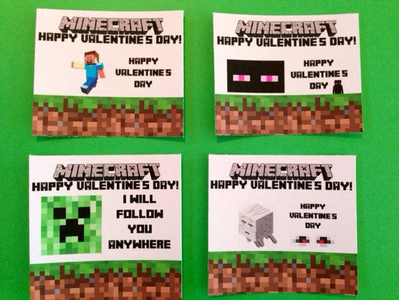 Minecraft Valentine S Day Diy Mobs Steve Enderman Creeper Cave