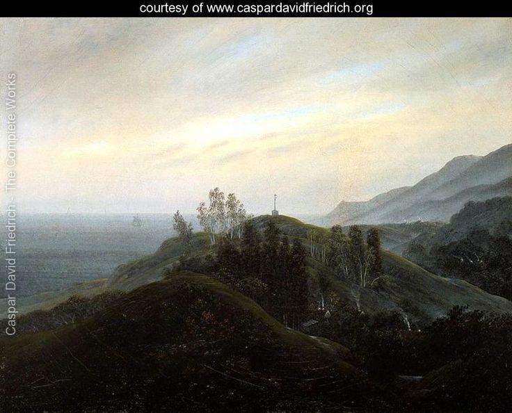 """View of the Baltic"" 1820-25 - Caspar David Friedrich - www.caspardavidfriedrich.org"