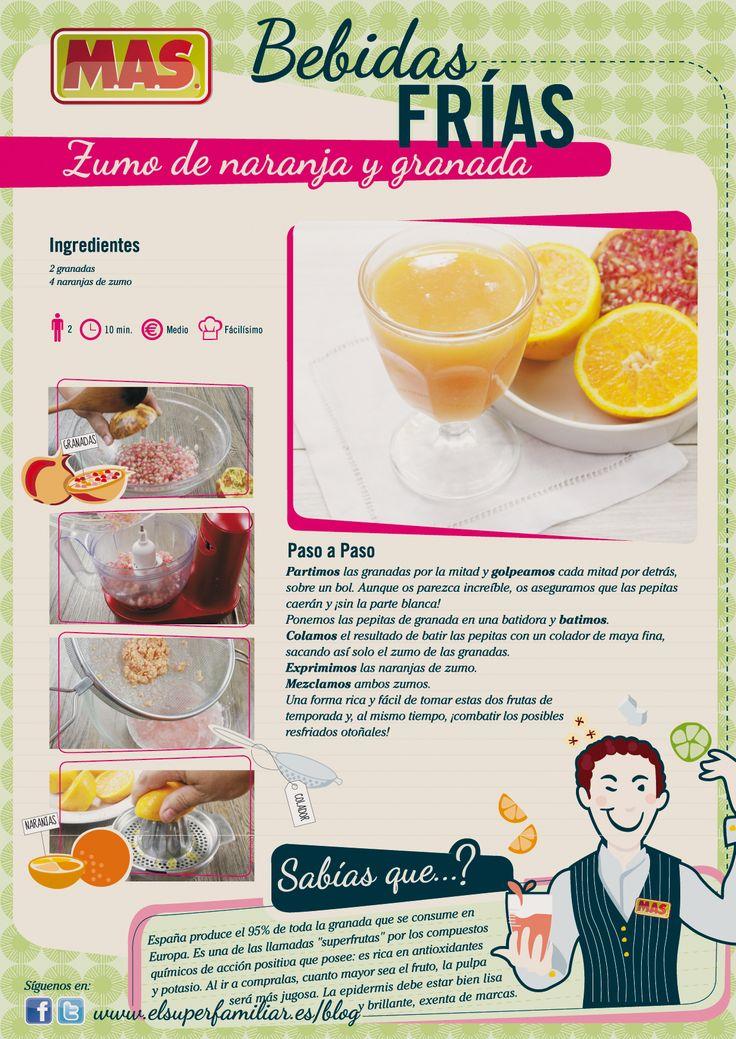 """¿Qué os parece este #zumo de naranjas con """"extra""""? #Recetas #InfoRecetas #Infografias #Infographics #Recipes #frutas"""