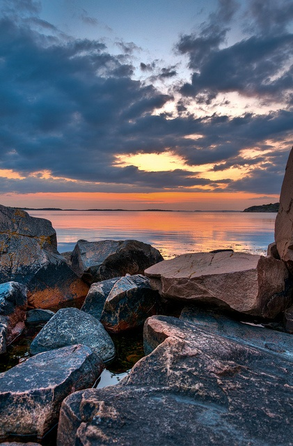 Sunset at Särö, Sweden, by Martin Hedlund, via Flickr