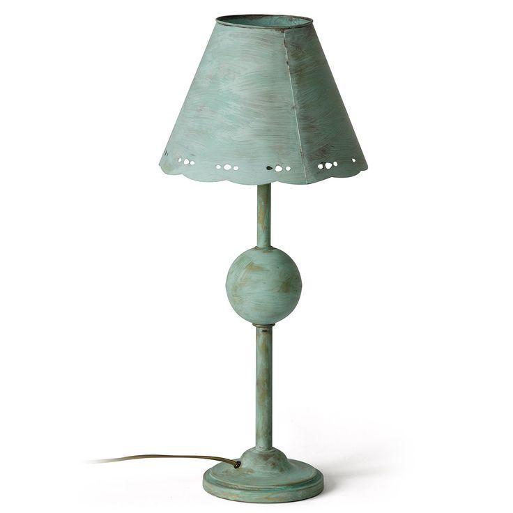 Nostalgische Metall Tischlampe Handgefertigt In Frankreich Lampe Tischlampen Deckenleuchten