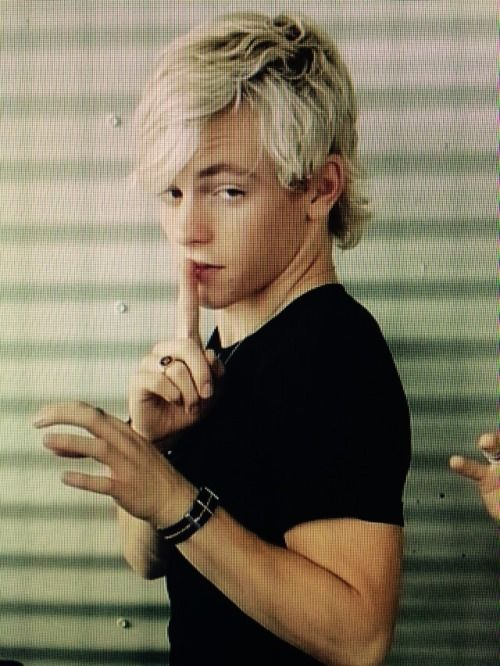 What are you looking at Ross and why do you have your finger over your mouth.